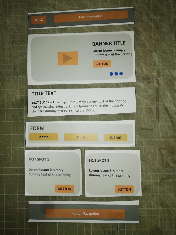 Wireframe image - modular design